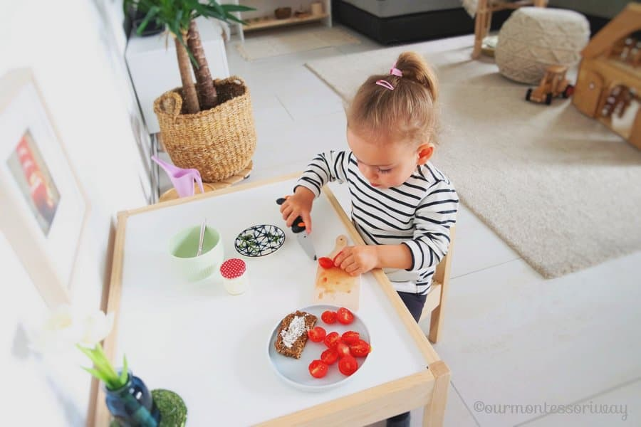 Table in the Montessori playroom