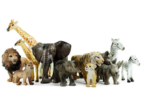 safari animals playset