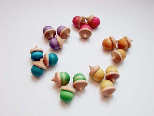 wooden acorns