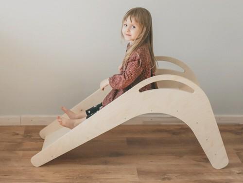 wooden indoor slide
